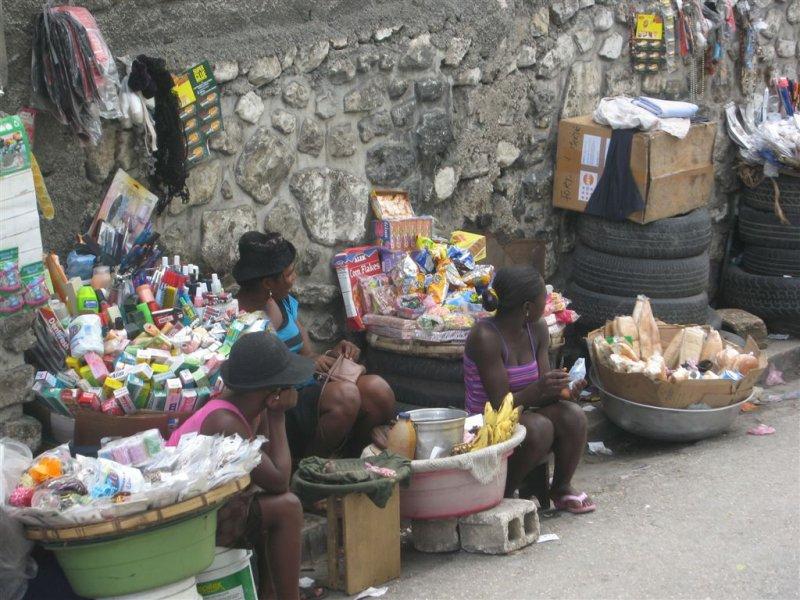 side walk sale  (or road side market)