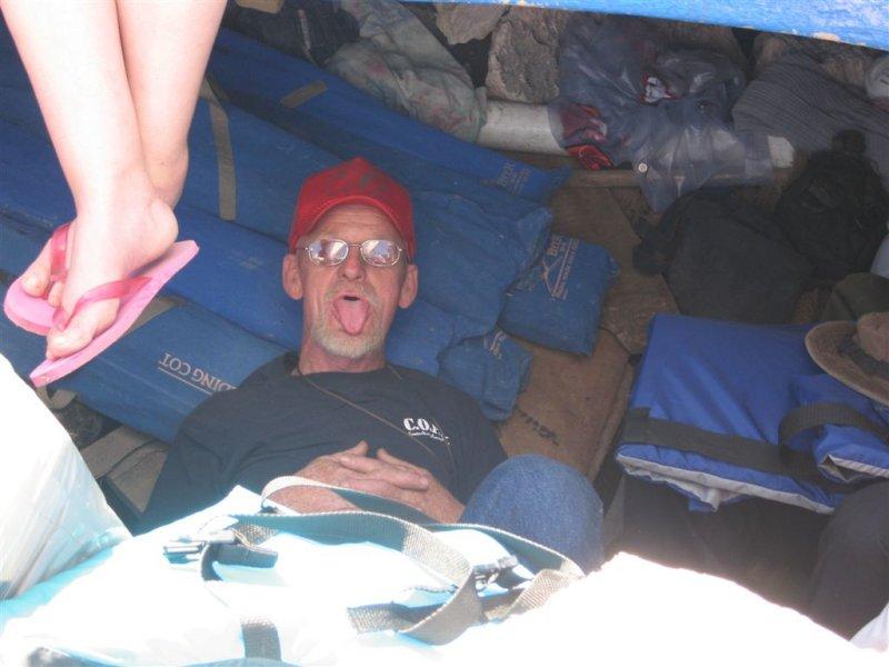 some people had to be held below deck