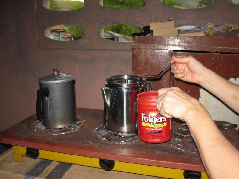 making coffee