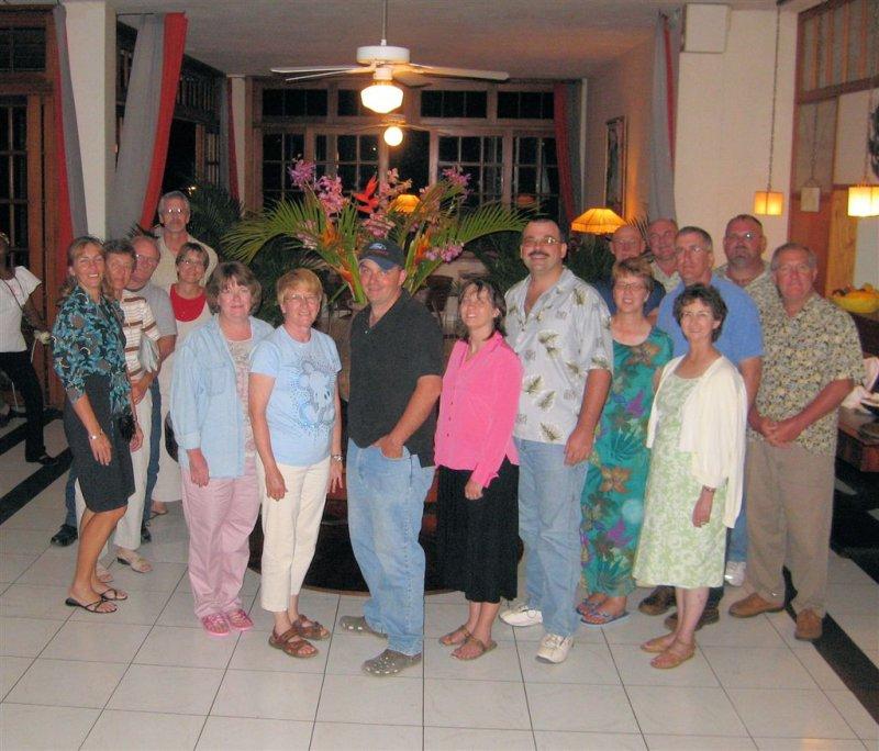 the group @ Montana Hotel in Haiti