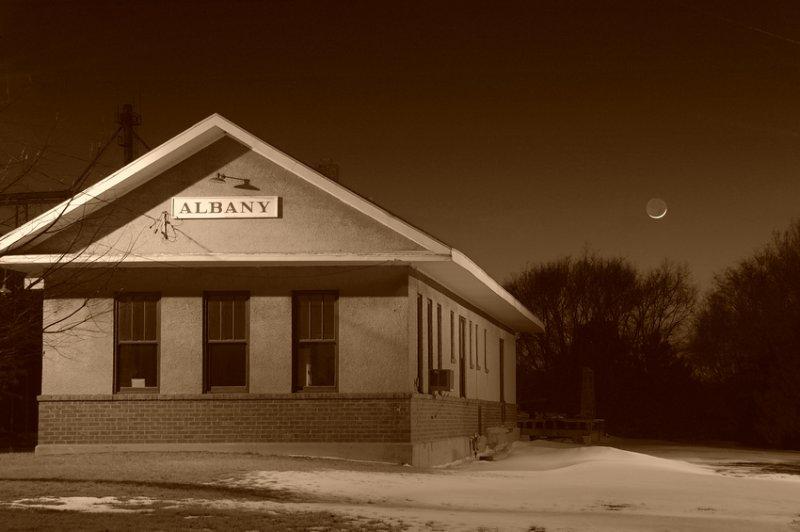 Moon & Albanys Depot (Sepia)