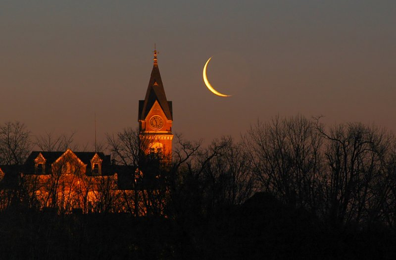 Crescent Moon with Courthouse