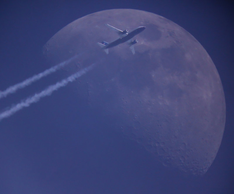 Moon & Plane Passage