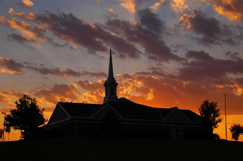 Church Steeple Sunset