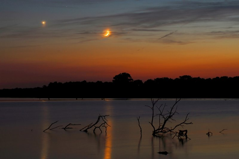 Planetary Conjunction over Pony Express Lake
