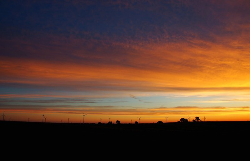 Sunrise over Windmill Farm