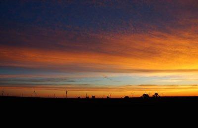 Sunrise over Windmill Farm