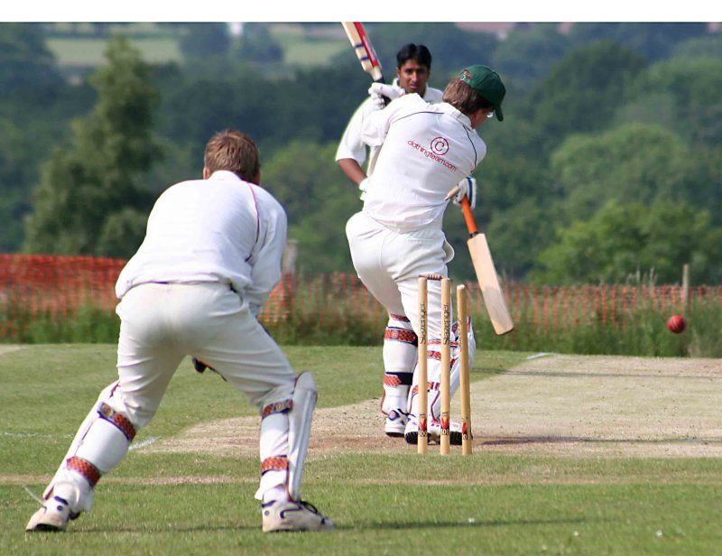 Next ball; same result. Three wicket over for Tom Tom