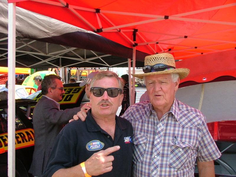 Tony Formosa Jr and Nascar Hall of Fame Driver, James Hylton.