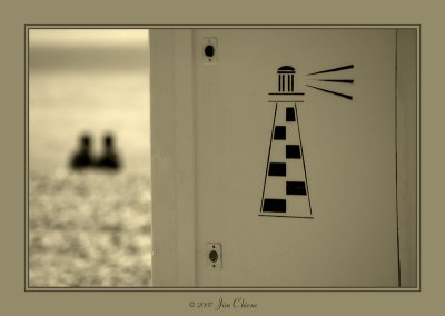 The chequered lighthouse