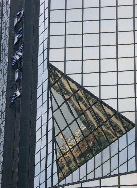 REFLET DES INVALIDES sur limmeuble DEXIA (Quai de Grenelle)...!!!