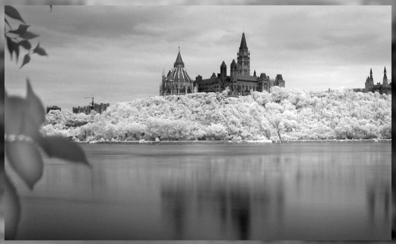 Infrared, Parliament Buildings in Ottawa