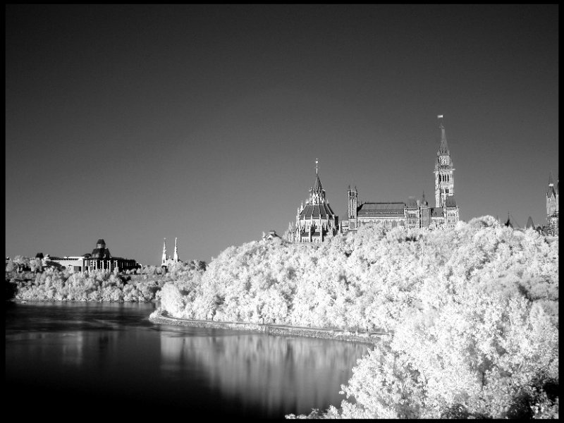 Infrared Parliament Building, Ottawa