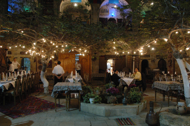 One of Bakus finer restaurants, a former caravanserai
