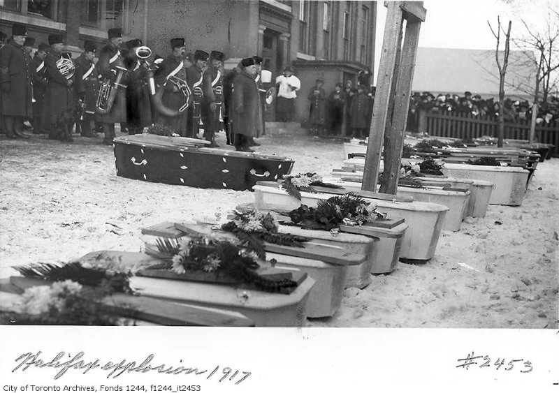 Halifax Explosion 1917 Victims Funeral Toronto Archives