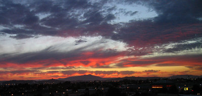 Sunset from eastbay window, 9/25/05