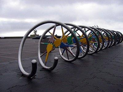 DNA double helix model - interactive sculpture