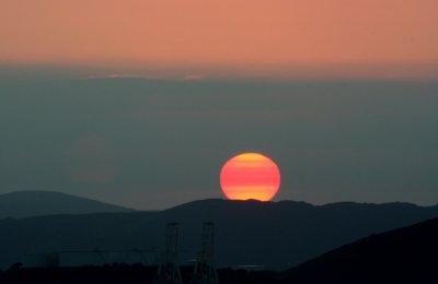 Sinking sun, from my window