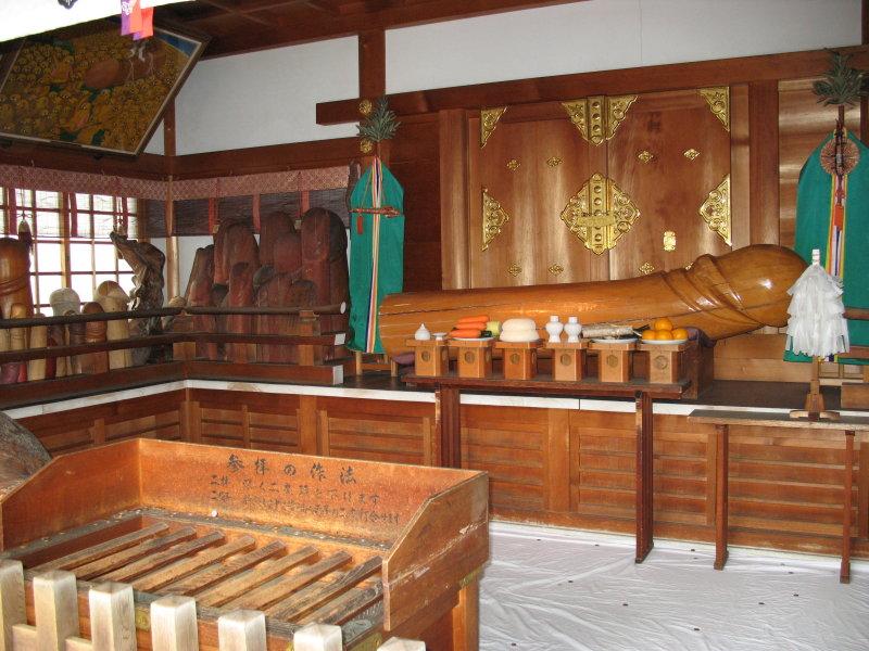 Shrine altar with phallus