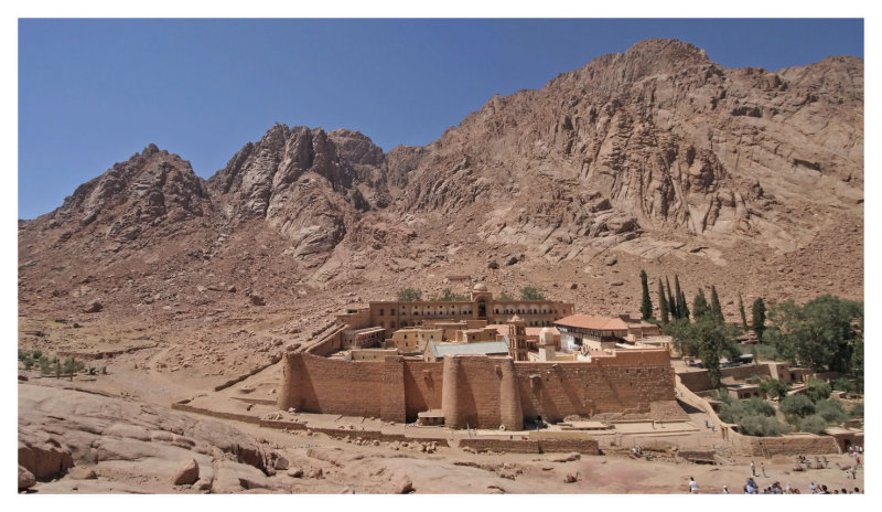 Panorama of Saint Catherine Monastery