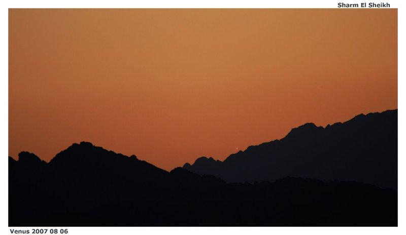 Venus setting