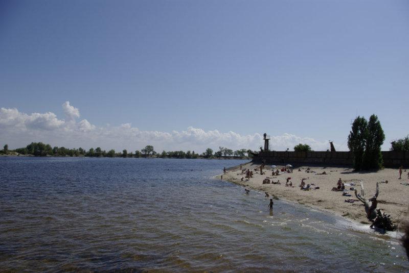 Cherkassy port beach