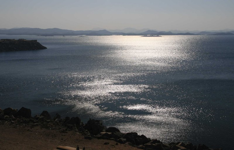 Lake Nasser in the early morning