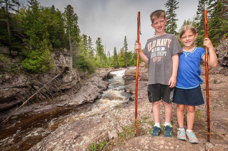 Ry and Cait at Temperance river