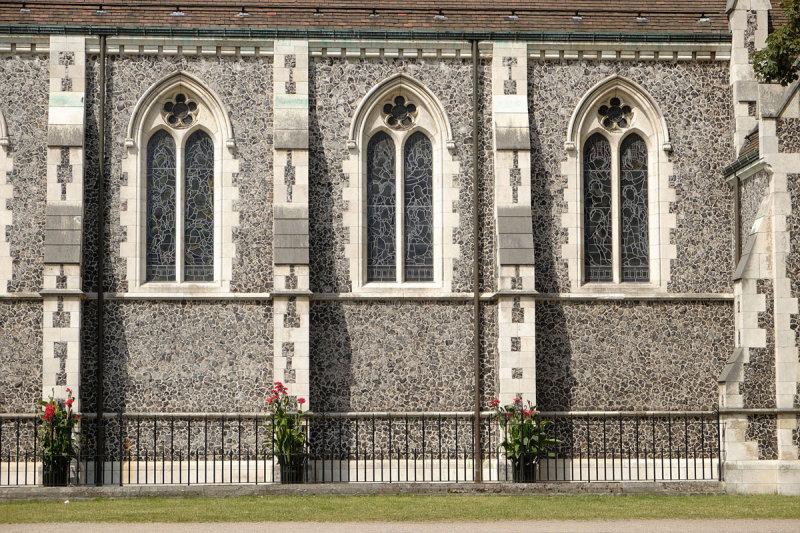 Detail of the side of St. Albans