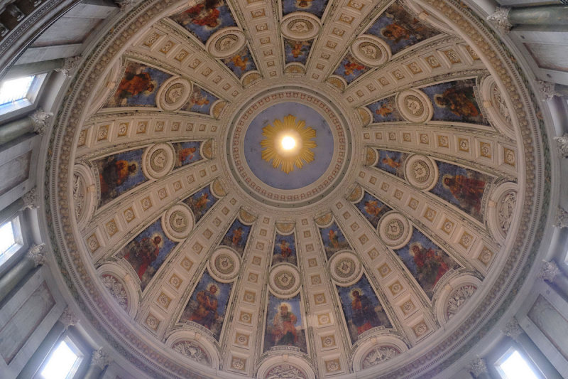 Dome inside of the Marble church