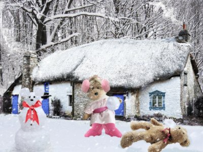 A snowball fight can be fun…