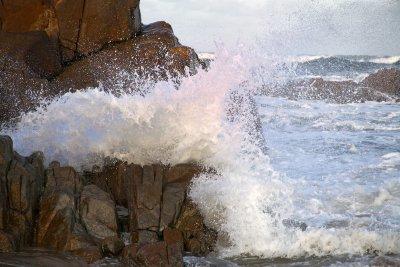 steinige strände auf moen