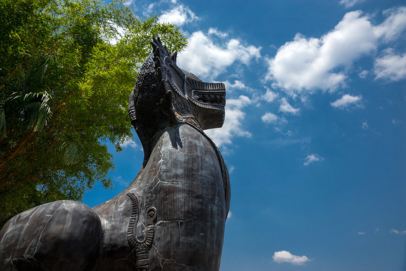 Sculpture at Australia Zoo.
