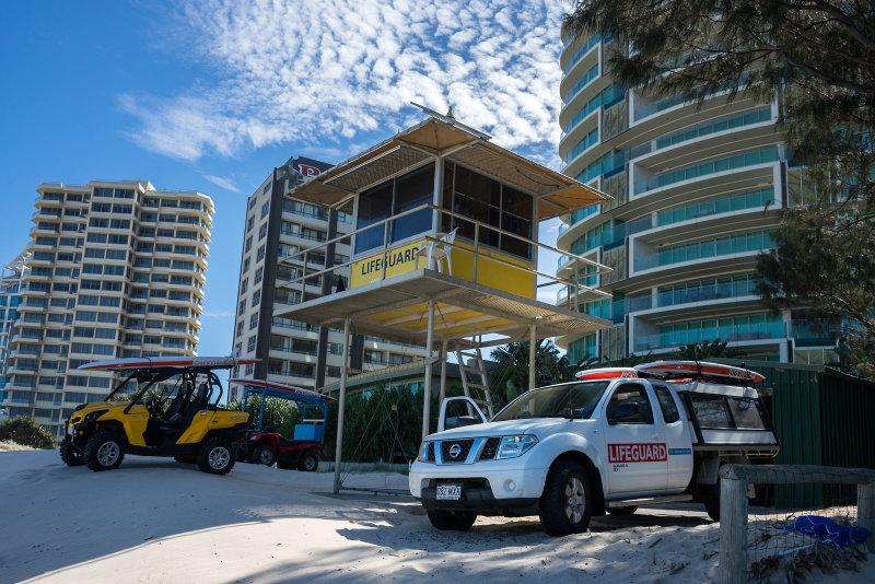 Life guard station at Surfers paradise, Gold Coast.
