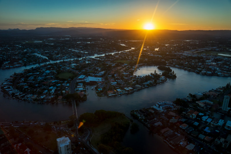 Gold Coast sunset viewed from SkyPoint.