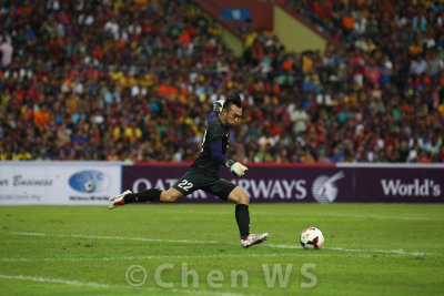 Malaysian goalkeeper Khairul Fahmi