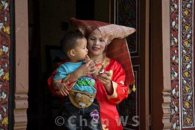 Minangkabau traditional headgear and dress