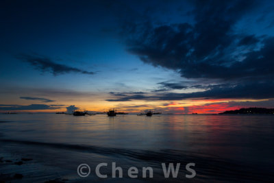 Sunset on Nirwana Beach