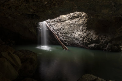 Natural Bridge waterfall, Springbrook National Park.