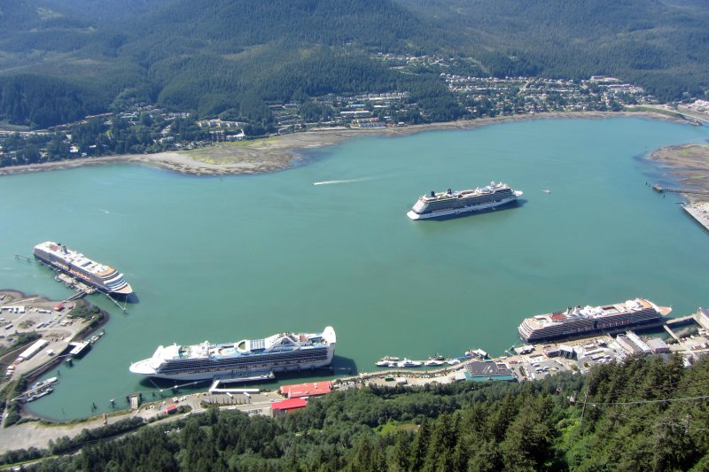 Juneau Cruise Ships from Mt. Roberts