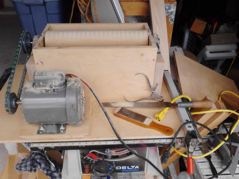 V-Drum Sander - 5 - Roughing Out Drum