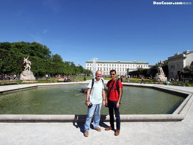 Dan and Cesar at Mirabell Palace and Gardens