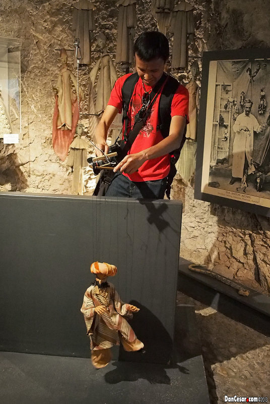 Cesar at the Marionette Museum