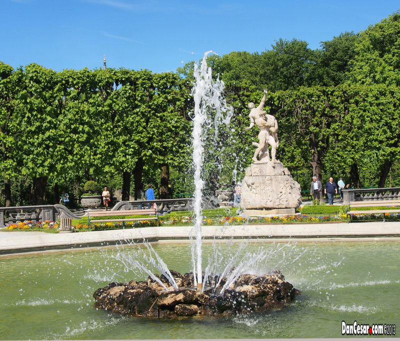 Fountain at Mirabell Palace and Gardens