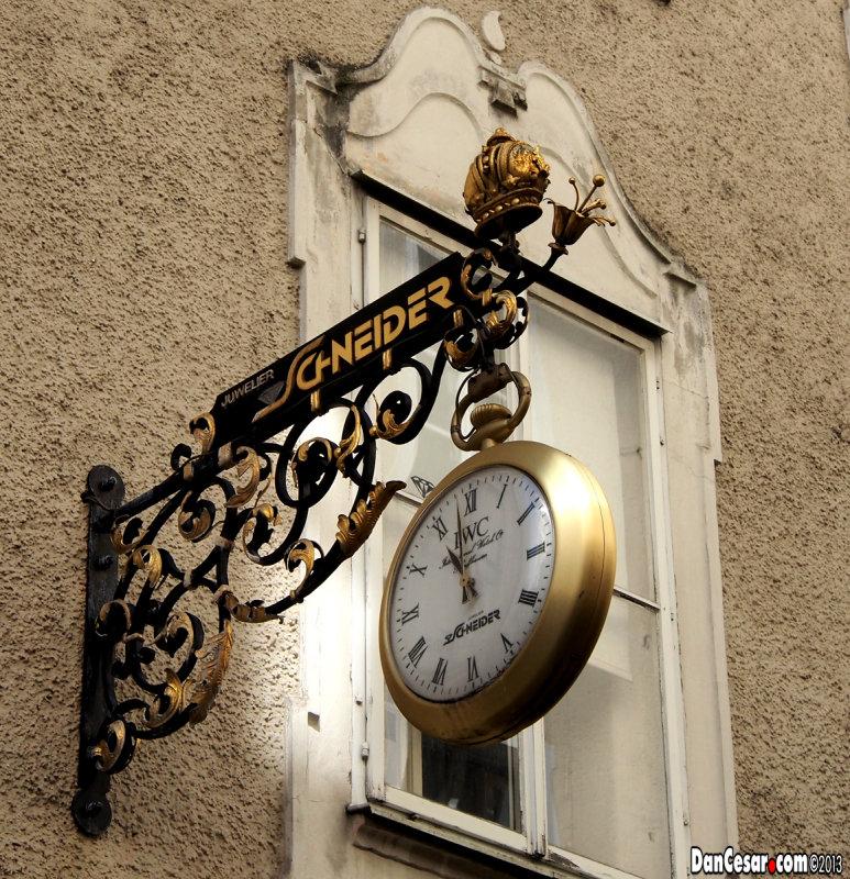 Watch Shop Sign in Getreidegasse