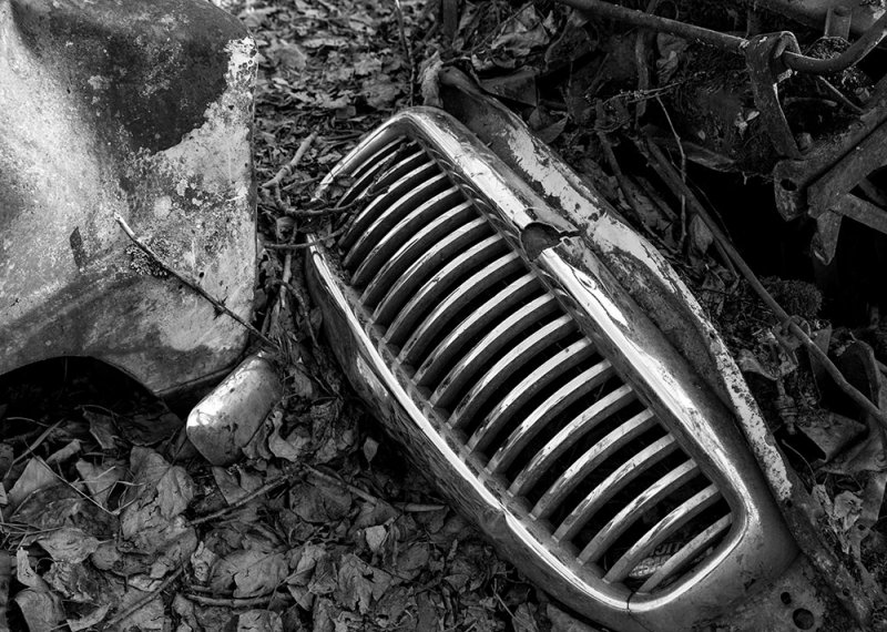 The grill of a car from the early 1950s. CZ2A1575.jpg