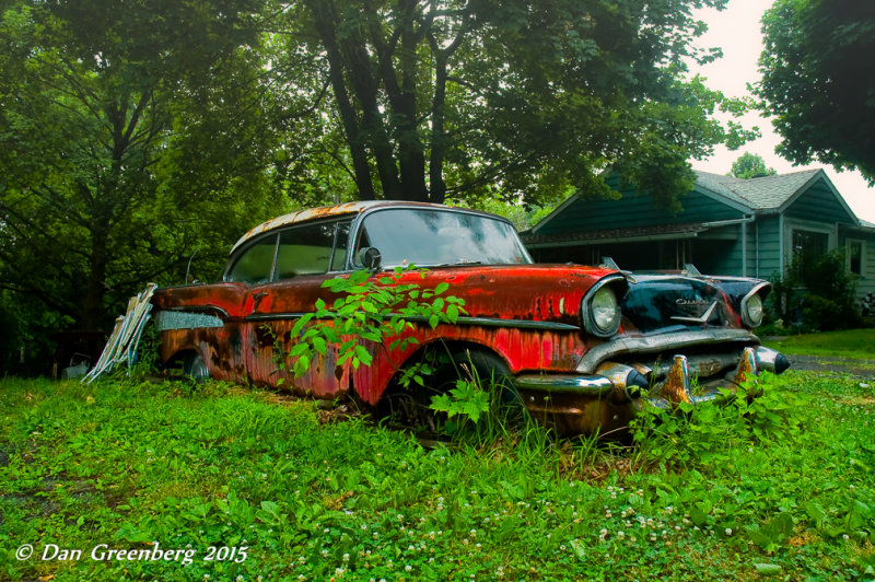 1957 Chevy in the Rain, Eastern PA