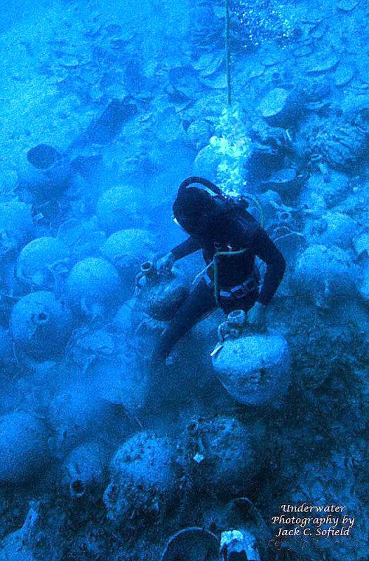 Diver Among Amphora