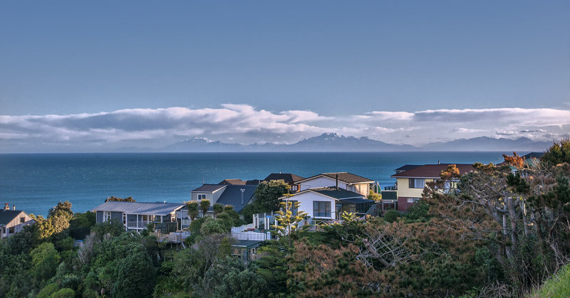 looking across Cook Strait after Nik filters applied