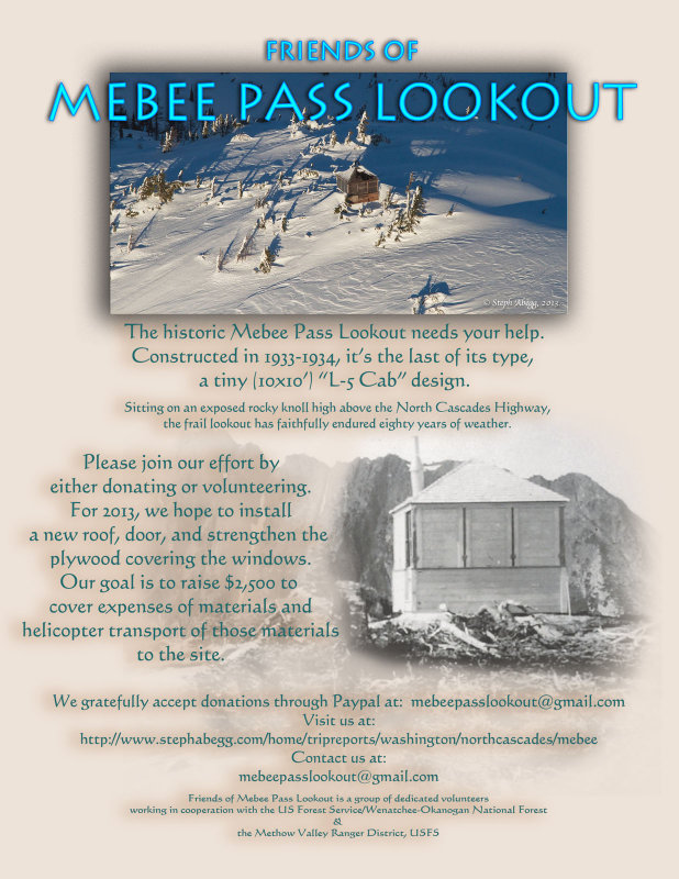 <br>Friends of Mebee Pass Lookout Flyer